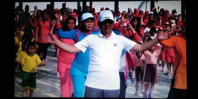 Senam Massal Anak TK Bersama Walikota Palangka Raya