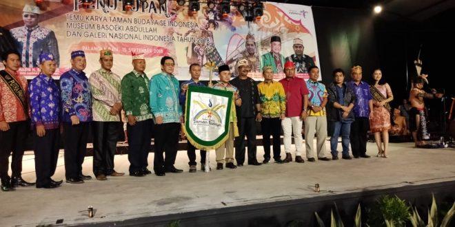 """Penyerahan """"Pataka"""" Kepada Provinsi Sulteng Sebagai Pelaksana TKTB se-Indonesia Tahun 2019"""
