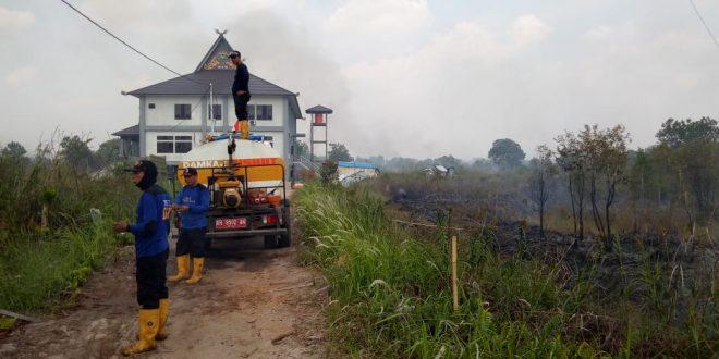 Lahan Dikawasan Kompleks Kantor Pemko Palangka Raya Dilalap Api