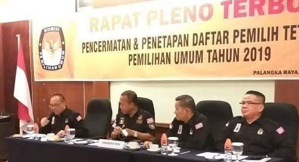 DPT Pileg 2019 di Palangka Raya 179.253 Jiwa, Hasil Perbaikan