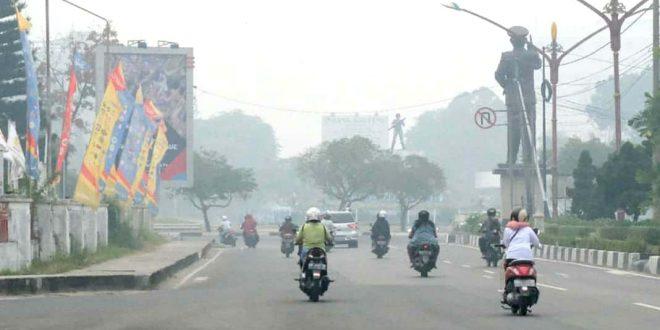 Kabut Asap di Palangka Raya Imbas Daerah Tetangga