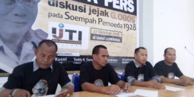 Diskusi Jejak Tokoh G Obos Bersama Wartawan Televisi Kalimantan Tengah