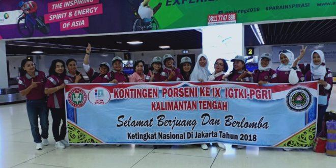 Guru TK Palangka Raya Mengikuti PORSENI IGTKI PGRI Ke IX Tingkat Nasional Th 2018 Di Jakarta
