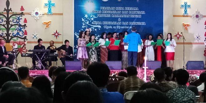 Disbudpar Kalteng Gelar Perayaan Natal Bersama Mitra Kerja