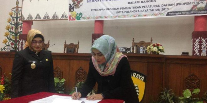 6 Fraksi DPRD Palangka Raya Setujui 11 Raperda Dibahas 2019