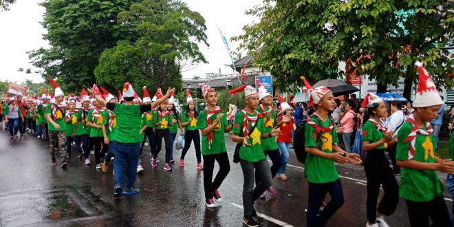 Karnaval Natal Kebangsaan di Palangka Raya Moment Wujudkan Keberagaman