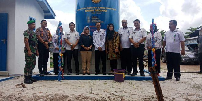 Bantuan Sumur Bor Kementerian ESDM di Kelurahan Palangka Diresmikan