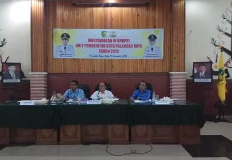Kepengurusan KORPRI Periode 2019-2024 Dijabat Oleh Sekda Kota Palangka Raya