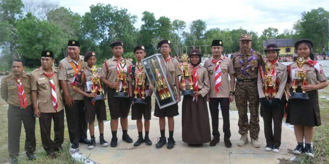 SMPN 1 Palangka Raya Juara Umum Lomba Ketangkasan Pramuka