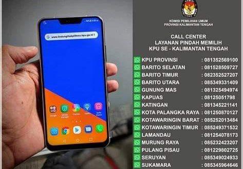 KPU Buka Layanan Call Center Pindah Tempat Memilih