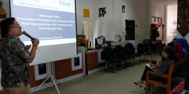 Pelatihan Pelayanan Prima pada Disdukcapil kota Palangka Raya