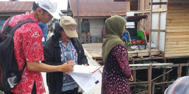 Dinsos Verifikasi Data Rumah Korban Kebakaran Jalan Dr. Murjani
