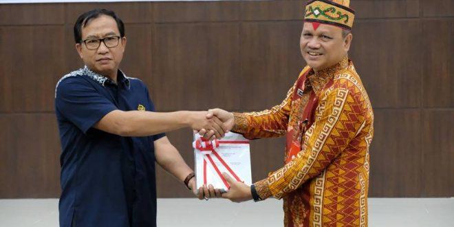 Badan Kesbangpol Kota Palangka Raya Terima LHP Bantuan Parpol 2018