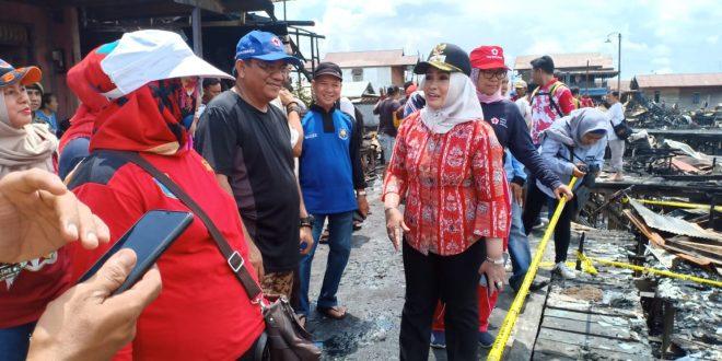 Dinsos dan Kominfo Tinjau Lokasi Kebakaran di Jalan Riau