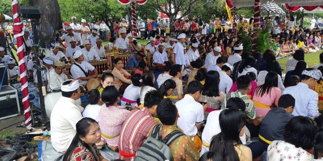 Ribuan Umat Hindu, Ikuti Ritual Tawur Agung Kesanga/ Mamapas Lewu