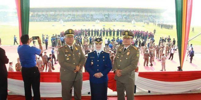 Wakil Walikota Palangka Raya Hadiri HUT Damkar dan Pol PP di Pekanbaru