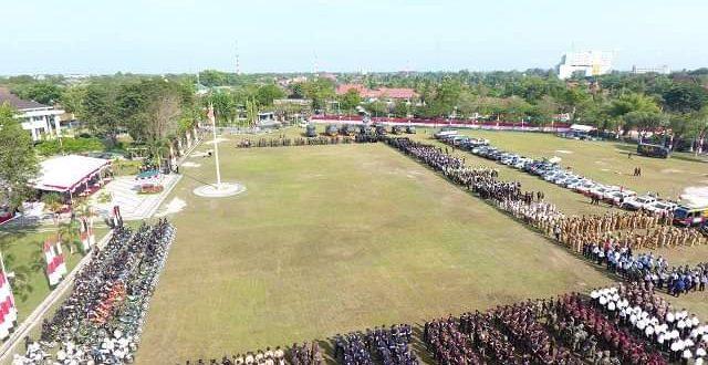 Korem Panju Panjung dan Polda Kalteng Gelar Pasukan Pengamanan Pemilu 2019