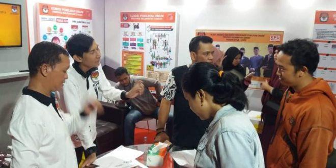 Stan KPU Ramai Dikunjungi Calon Pemilih