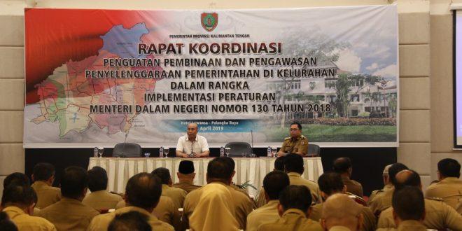 Rapat Koordinasi Penguatan Pembinaan Pengawasan Penyelenggaraan  Pemerintahan di Kelurahan