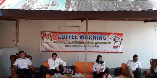 KPU Palangka Raya Adakan Coffee Morning