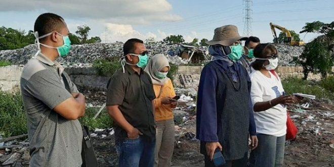 Sekda Memantau Tumpukkan Sampah di TPA Km.14