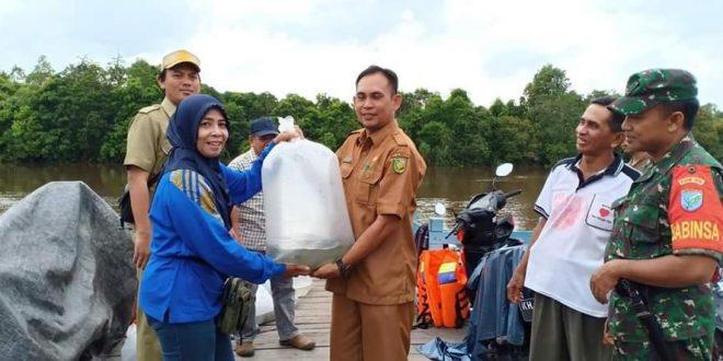 45 Ribu Bibit Ikan Sudah Ditebar di Wilayah Kelurahan Petuk Katimpun