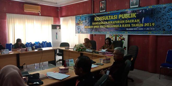 DPRD Palangka Raya Gelar Konsultasi Publik Tiga Raperda