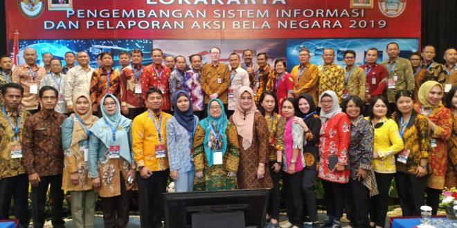 Lokakarya Pengembangan Sistem Informasi dan Pelaporan Aksi Bela Negara Tahun 2019