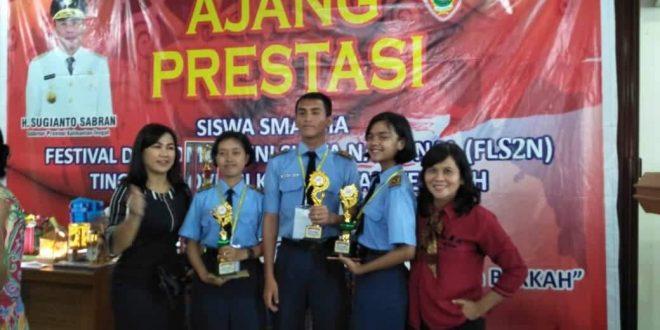Tiga Siswa SMAN 5 Palangka Raya Raih Prestasi FLS2N Provinsi
