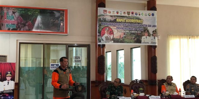 Sinergi Satgas Kota Palangka Raya dan Provinsi Kalteng Penanganan Karhutla