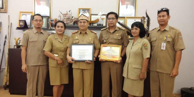 Disbudpar Kalteng Raih Penghargaan Keterbukaan Informasi Publik