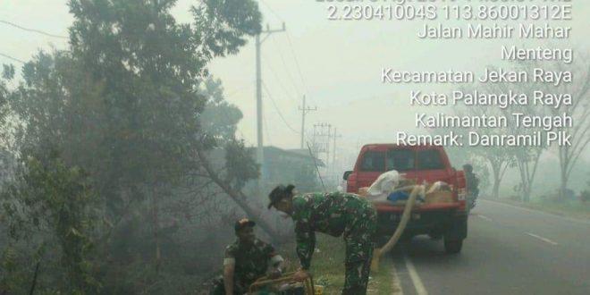 Lahan 4 Hektare di Jalan Aslon Terbakar