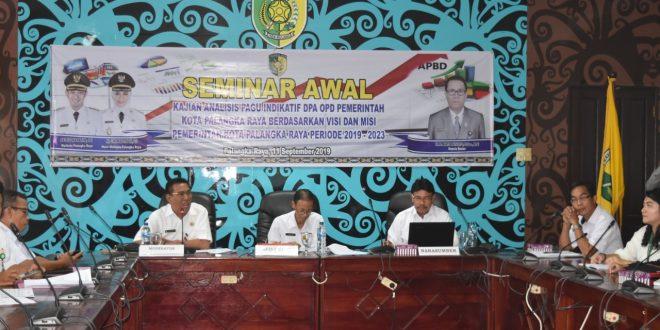 Seminar Awal Kajian Analisis Pagu Indikatif OPD Berdasarkan Visi Misi Kota Palangka Raya Tahun 2018-2023