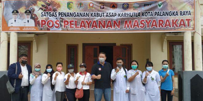 Ikatan Dokter Indonesia Adakan Bakti Sosial Bersama Tim Satgas Karhutla