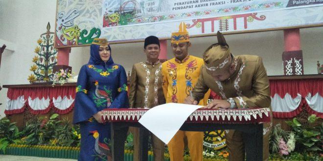 Akhirnya Dua Raperda Disetujui oleh DPRD Kota Palangka Raya.