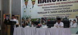 Pembukaan Rakordal Program Pembangunan Provinsi Kalteng Triwulan III Tahun 2019