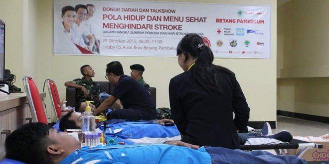 RS Awal Bros Adakan Donor Darah dan Talkshow Kesehatan