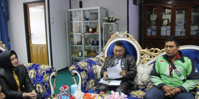 Driver Gojek Audience dengan Wakil Walikota Palangka Raya.