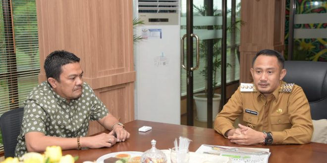 Media Koran Tabengan Audiensi Dengan Walikota Palangka Raya