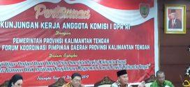 Kunjungan Kerja Tim Komisi I DPR RI di Kalimantan Tengah