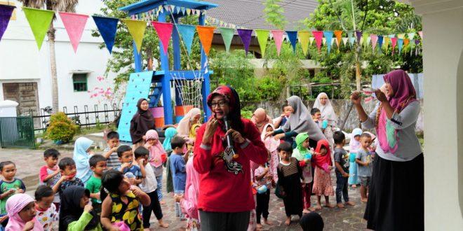 Puskesmas Bukit Hindu Gelar Sikat Gigi Massal Di TK Al-Ghazy Banin Palangka Raya