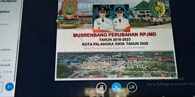 Bappedalitbang Menggelar Musrenbang Perubahan RPJMD Kota Secara Daring