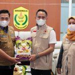 Walikota Palangka Raya Menyerahkan Bantuan Untuk Korban Bencana Banjir di Banjarmasin Kalimantan Tengah