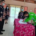 Serah Terima Jabatan Struktural di Lingkungan Disparbudpora Kota Palangka Raya