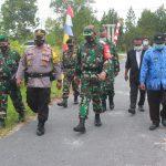 Danramil Bersama Pasi Ops, Cek Posko PPKM Mikro Wilayah Kelurahan Habaring Hurung