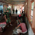 Wujud Nyata Pengabdian TNI, Koramil Bukit Batu Rehab TPA AL HIJRAH