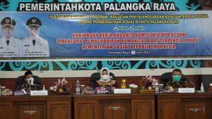 Pemerintah Kota Palangka Raya Terima Kunjungan Anggota DPR Komisi VIII dan Direktorat PKAT Kementerian Sosial